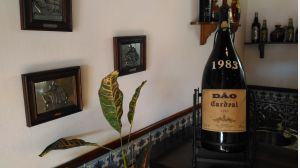 Wine of the demarcated region of Dão CARDEAL of 1983, of Portugal with 33 years of age.