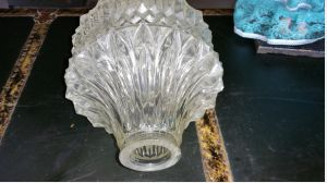 4 Rare vintage lampshades in glass