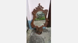 Old Carved Wood Mirror