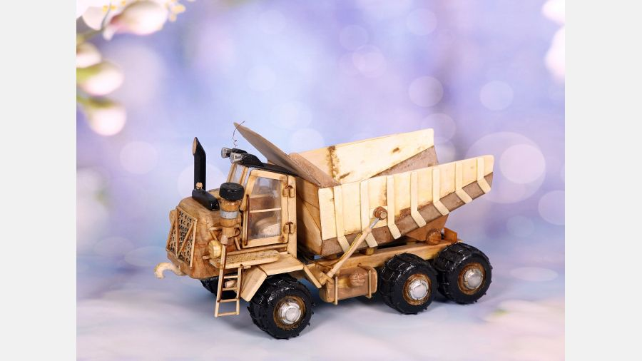 Constrution Truck - Rustic Toy collectable vintage Wood Handmade