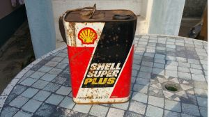 Vintage Rare SHELL Petroleum 5 LITRES Motor Oil METAL Can Tin advertising